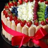 Tort owocowy, urodzinowy KAWA I CZEKOLADA