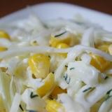 Sałatka Colesław z kukurydzą