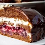 Tort czekoladowo-chałwowy KAWA I CZEKOLADA