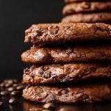 Ciastka mocno czekoladowe, z odrobiną kawy