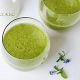 Smoothie z zieloną herbatą, pietruszką i selerem naciowym