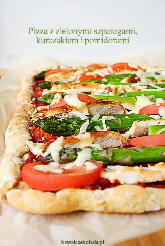 pizza ze szparagami i kurczakiem (5)