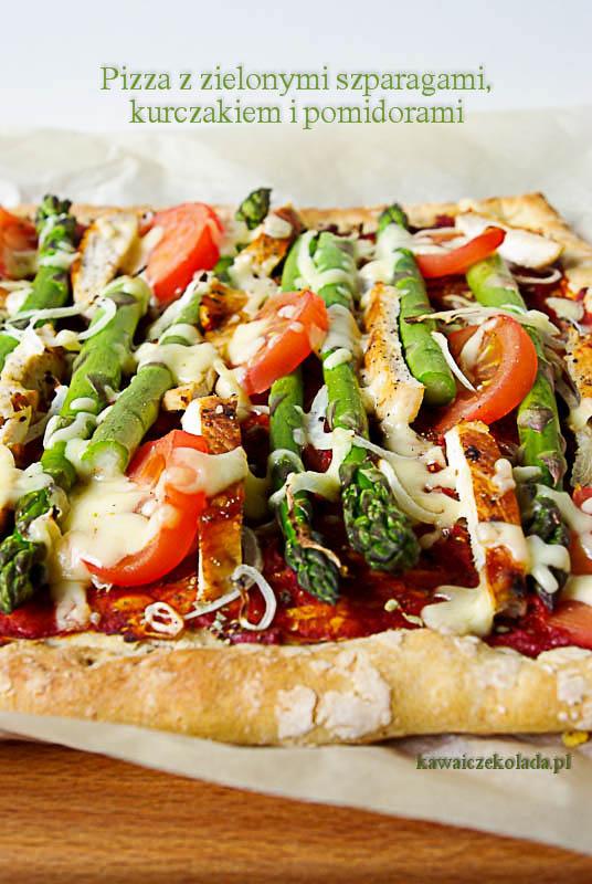 pizza ze szparagami i kurczakiem (8)